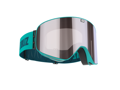 Lyžiarske okuliare Bliz Flow matt turquise/brown w silver mirror+blue