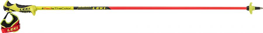 Detské lyžiarske palice Leki Worldcup Racing Comp JR.neonred/neonye-bk-wh
