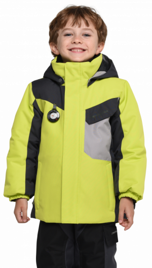 eee7d3821111 Detská lyžiarska bunda Obermeyer Kids Boys Galactic Jacket Green Flash