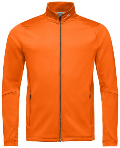 Lyžiarska flísová mikina KJUS Men Diamond Fleece Midlayer Jacket Kjus Orange