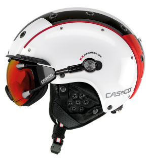 Lyžiarska prilba Casco SP-3 Comp white/red/black