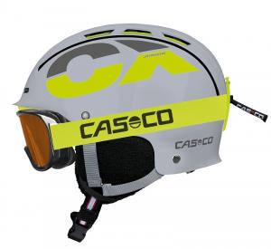 Detská lyžiarska prilba Casco CX-3 JUNIOR grey/neon