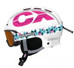 Detská lyžiarska prilba Casco CX-3 JUNIOR white/pink