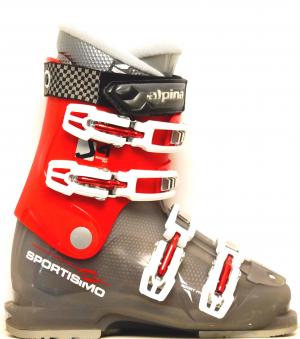 Detské lyžiarky BAZÁR Alpina J4 Sport Fit red/grey 230