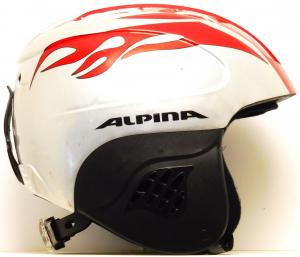 Lyžiarska prilba BAZÁR Alpina Twister red/silver 51-55