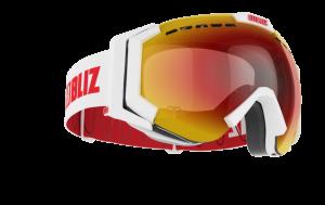 Lyžiarske okuliare Bliz Carver SR Matt white, Brown w red
