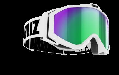 Lyžiarske okuliare Bliz Edge OTG white brown w green multi
