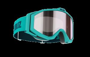 Detské lyžiarske okuliare Bliz Edge JR OTG Matt Turqouise, Orange w silver