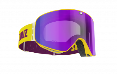Lyžiarske okuliare Bliz Flow shiny yellow, brown w purple