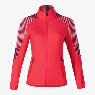 Lyžiarska flísová mikina UYN Climable Womens Jacket Geranium/Deep Blue/Off White