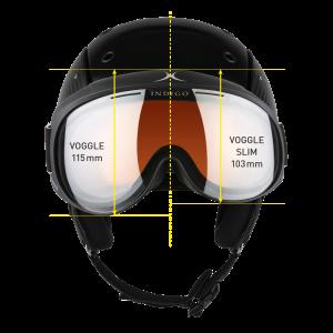 Lyžiarske okuliare Indigo Slim Voggle Photochromatic-White Strap