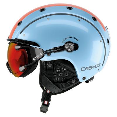 Lyžiarska prilba Casco SP-3 Comp retro blue-orange