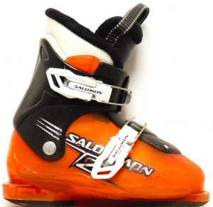 Detské lyžiarky BAZÁR Salomon T2 orange/black 200