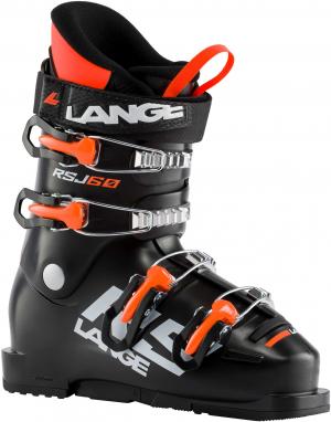 Detské lyžiarky Lange RSJ 60 black/orange fluo