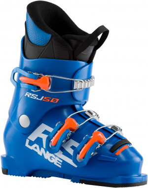 Detské lyžiarky Lange RSJ 50 power blue/orange fluo
