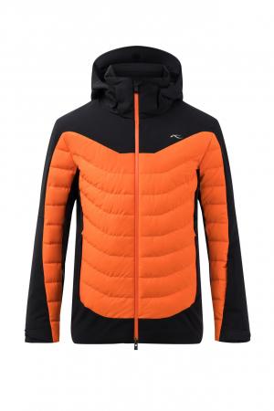 Lyžiarska bunda KJUS Men Sight Line Jacket Black-KJUS Orange