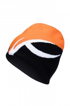 Lyžiarska čiapka KJUS Unisex Uprising Beanie Black-Kjus Orange