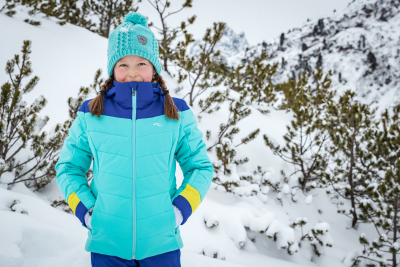 Detská lyžiarska bunda KJUS Girls Madlain Jacket Mystic Sea-Wintersky