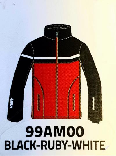 Detská lyžiarska bunda Vist Icestorm Ins. Ski Jacket Junior black/ruby/white