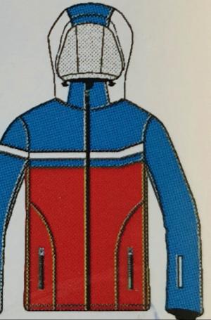 Lyžiarska bunda Vist Ice Storm water/ruby/white