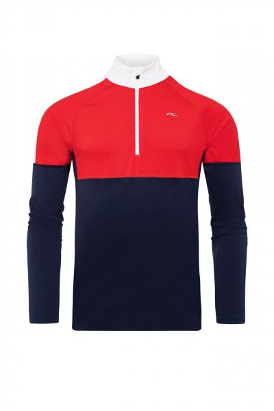 Lyžiarske funkčné oblečenie KJUS Men Race Midlayer Half-Zip atlanta-scarlet