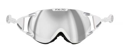 Lyžiarske okuliare Casco FX 70 Carbonic white silver