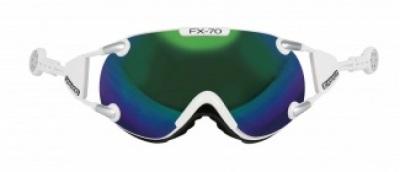 Lyžiarske okuliare Casco FX 70 Carbonic white green