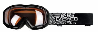 Detské lyžiarske okuliare Casco AX-30 PC black-white F1
