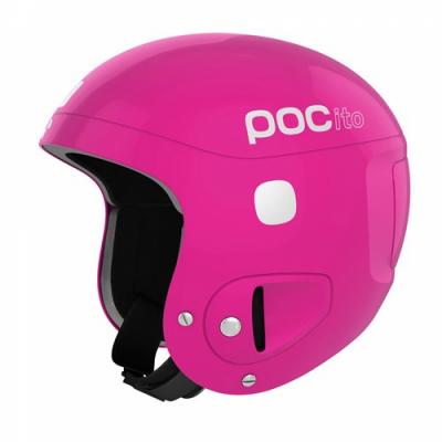Detská lyžiarska prilba POCito Skull Fluorescent Pink Adjustable