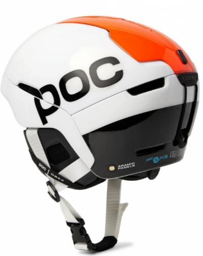 Lyžiarska prilba POC Obex SPIN Backcountry Spin hydrogen white/fluorescent orange