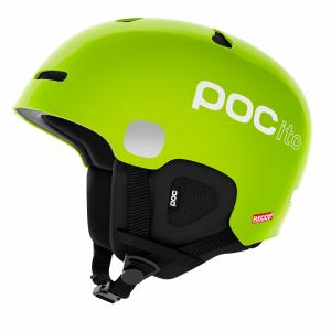 Detská lyžiarska prilba POCito Auric Cut Spin fluorescent lime green