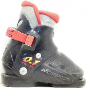 Detské lyžiarky BAZÁR Nordica Black 1 155