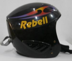 Lyžiarska prilba BAZÁR Rebell black 50