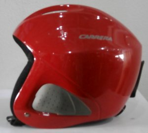 Lyžiarska prilba BAZÁR Carrera Red 53 54  ba36464d456