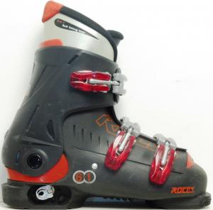 Detské lyžiarky BAZÁR Roces Black 3 225-255