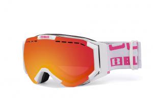 Lyžiarske okuliare Bliz Carver SR OTG Matt White Pink w Blue Multi