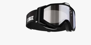 Detské lyžiarske okuliare Bliz Edge JR OTG Black Orange w Silver Mirror