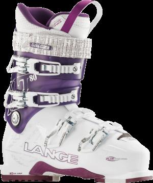 Lyžiarky Lange XT 80 white-tr. purple
