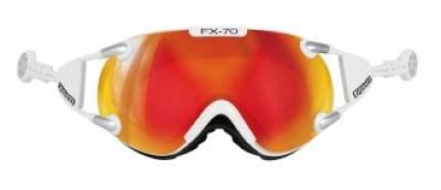 Lyžiarske okuliare Casco FX-70 Carbonic white-orange
