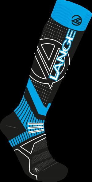Lyžiarske termoponožky Lange Wool & Silk x3 Blue