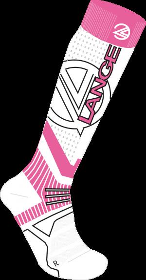 Lyžiarske termoponožky Lange W woll & silk x3 pink