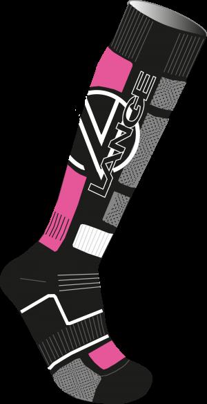 Lyžiarske termoponožky Lange W Premium Woll x3 pink
