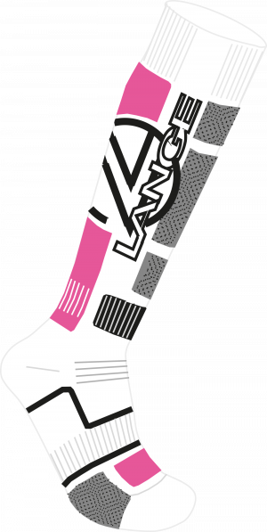 Lyžiarske termoponožky Lange JR Premium Wool x3 pink