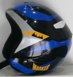 Lyžiarska prilba BAZÁR Marker Black/Blue/Yellow 50-53